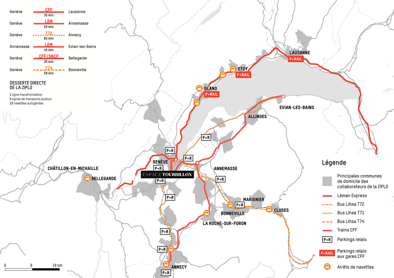 ESPACE TOURBILLON - plan mobilité - Plan-les-Ouates