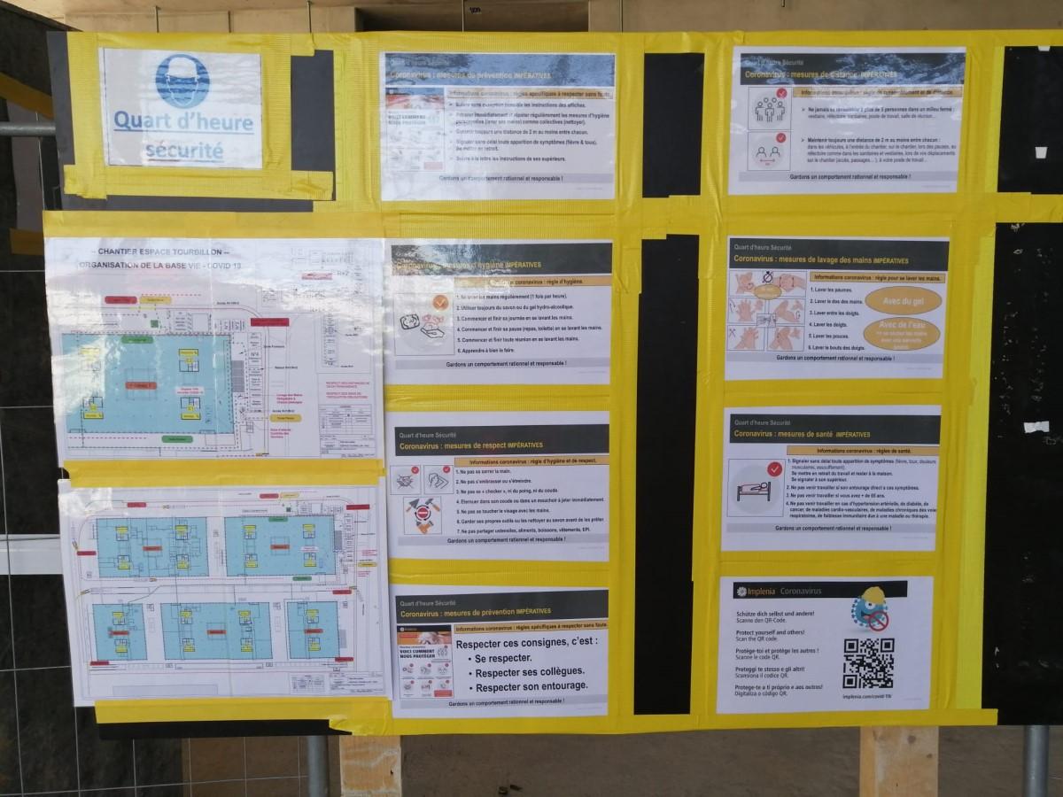 Panneaux d'information COVID-19
